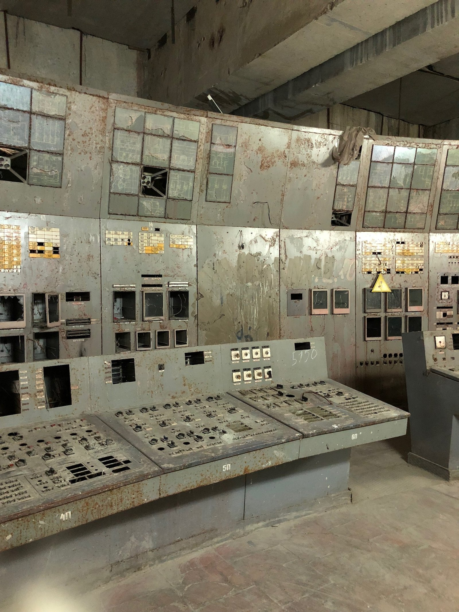 Image - The disused control room of Reactor No.4 at the Chernobyl plant