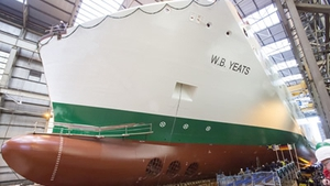 Irish Ferries said the delivery of the WB Yeats has been further delayed