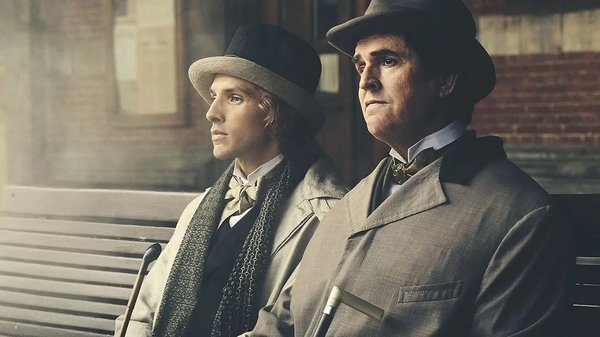 Rupert Everett (right) in his directorial debut, The Happy Prince.