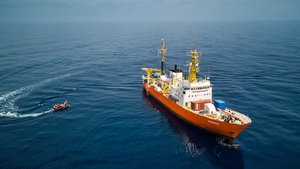 The MV Aquarius had been used to rescue migrants from the sea in recent times