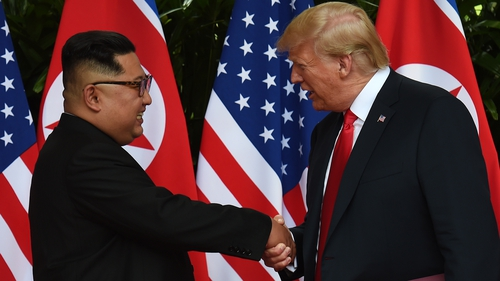 Kim Jong Un and Donald Trump held their first landmark summit in Singapore last June