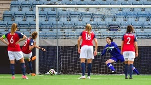 Norway's Caroline Graham Hansen scores from the penalty spot