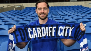 Cunningham joins the Bluebirds for an undisclosed fee. Picture credit: @CardiffCityFC