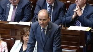 Fianna Fáil leader Micheál Martin during Leaders' Questions