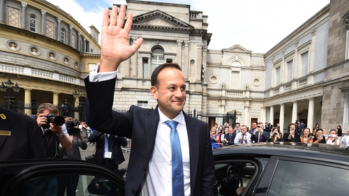 """Taoiseach Leo Varadkar outside Leinster House: """"interviewees across these reports regardless of income and occupation have expressed no desire for more cash, but rather better public services and the security they represent"""""""