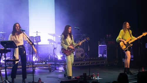 Haim performing at The Olympia Theatre in Dublin
