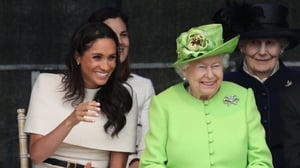 Queen Elizabeth II and the Duchess of Sussex enjoying a wee giggle