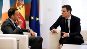 Taoiseach Leo Varadkar met Spanish Prime Minister Pedro Sanchez this afternoon