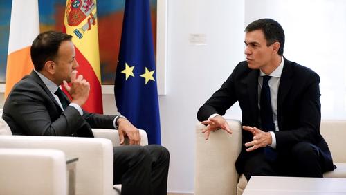 Taoiseach Leo Varadkar met Spanish Prime Minister Pedro Sanchez this afternoon