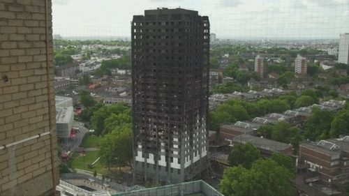 The fire occurred in June last year, and left 72 people dead