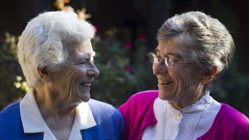 Sister Jo (left), and Sister Gabrielle (right). Photo by Emma Decker