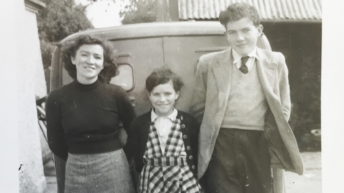 Sister Gabrielle, left, on the family farm in Culliagh with two of her siblings.  Photo courtesy of the Murray family