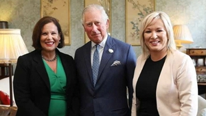Britain's Prince Charles met Sinn Féin's Mary Lou McDonald and Michelle O'Neill (Pics: Julien Behal)