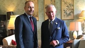The royal also held talks with Fianna Fáil leader Micheál Martin