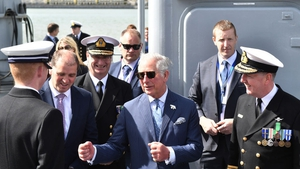 Prince Charles visits Cork Naval Base