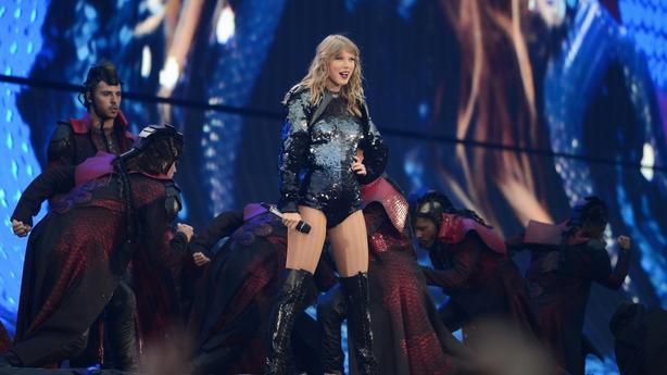 Taylor Swift on stage in Croke Park