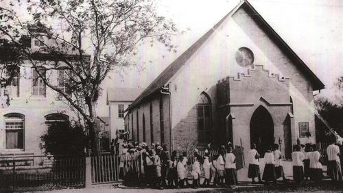 The St. Peter Claver Church and School, 1903.  Photo courtesy of the Sisters of the Holy Spirit and Mary Immaculate