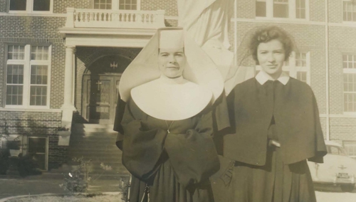 Sister Jo and Sister Gabrielle at the convent in San Antonio. Photo courtesy of the Murray family