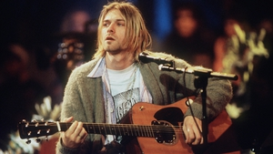 Kurt Cobain pictured during the taping of MTV Unplugged in 1993