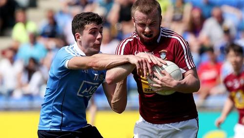 James Madden (L) in action for Dublin U-20s