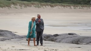Charles and Camilla walk on Derrynane beach in Co Kerry during the royal tour of Ireland