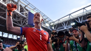 Hannes Halldorsson was Iceland's hero