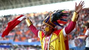 A Peruvian fan pre-match