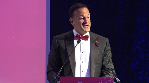 Leo Varadkar was speaking at the HIV Ireland Red Ball in Dublin this evening