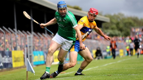 John Conlon and Richie McCarthy contest possession in Cusack Park as Clare dispatched Limerick in the Munster championship