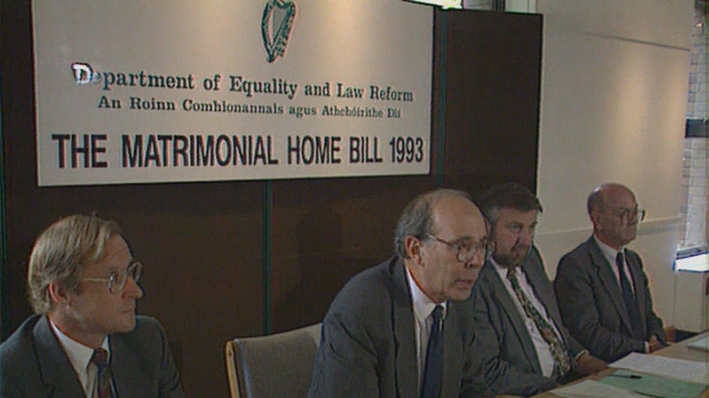 Launch of the Matrimonial Home Bill (1993)