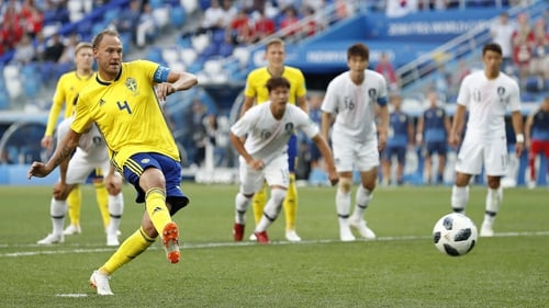 Korea Republic pay the penalty against Sweden