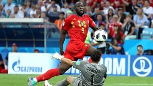 Romelu Lukaku finds the net