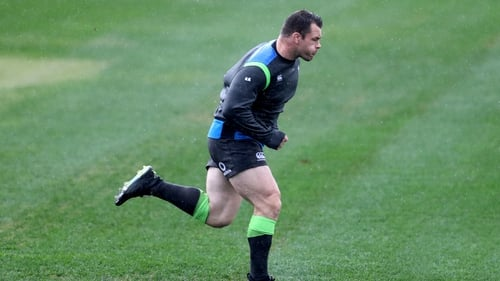 Cian Healy has responded well to the AC injury that forced him off in the second half of last weekend's win