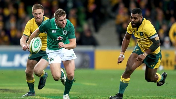Tui handed first Wallabies start, five changes for Ireland