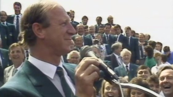 Jack Charlton and the Irish Team, 19 June 1988