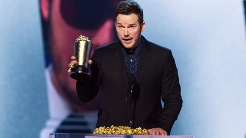 Chris Pratt wins the Generation Award at the MTV Awards