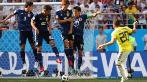 Juan Quintero sends his free-kick under the wall