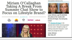 False claims over Miriam O'Callaghan beauty products