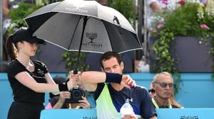 Andy Murray had a visible limp at Queen's