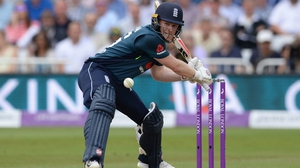 Eoin Morgan hit three 4s and six 6s in 30 balls