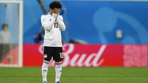 Mohamed Salah suffered a muscle injury on international duty