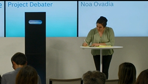 The artificial intelligence system took part in two debates