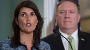 Nikki Haley and US Secretary of State Mike Pompeo