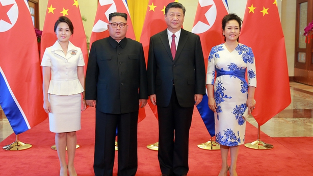 The first ladies of North Korea and China joined their husbands Kim Jong-un and Xi Jinping at the gathering