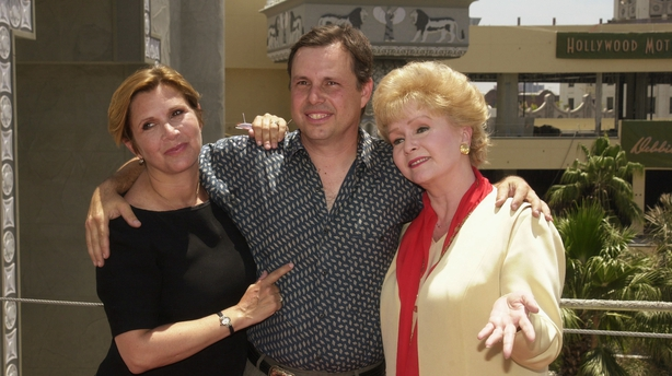 Carrie and Todd Fisher with their mother Debbie Reynolds