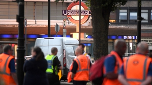 Emergency services at the scene at Southgate tube station