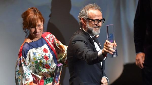 Italian chief Massimo Bottura and his wife Lara Gilmord