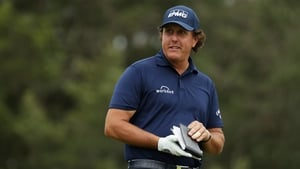 Phil Mickelson has apologised for hitting a moving ball on the 13th hole of Saturday's third round of the US Open