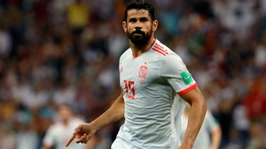 Diego Costa leads the line for Spain