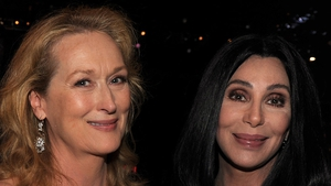 Meryl Streep and Cher (photographed in California in 2010) - Rescued woman in New York in 1983